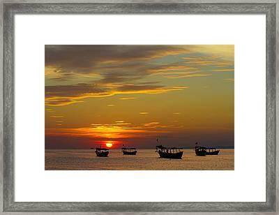 Kampong Som Sunset Framed Print