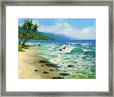 Kanaha Beach Framed Print by Steven Welch