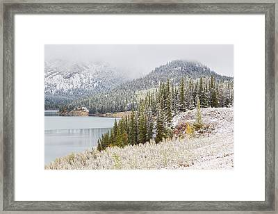 Kananaskis Country Winter Snow Canadian Rockies Framed Print