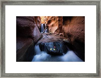 Framed Print featuring the photograph Kanarra Creek by Wesley Aston