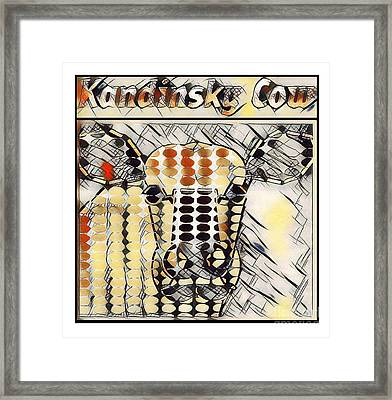 Kandinsky Cow No. I Framed Print by Geordie Gardiner