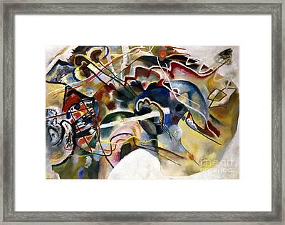 Kandinsky: White, 1913 Framed Print by Granger