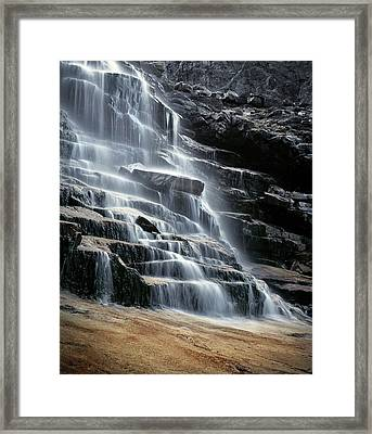 Kane Falls Framed Print by Leland D Howard