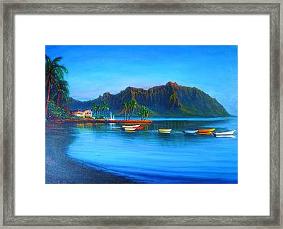 Kaneohe Bay - Early Morning Glass Framed Print