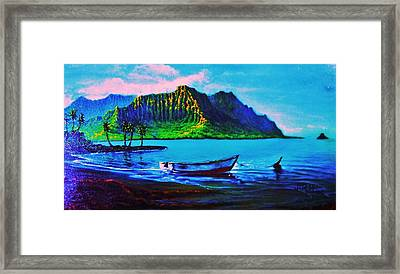 Kaneohe Bay Afternoon -with Skiff Framed Print