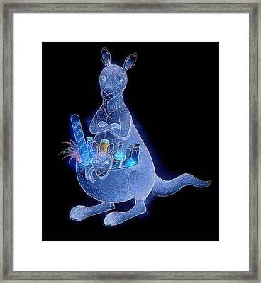 Kangaroo 02 Framed Print by Kestutis Kasparavicius