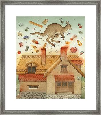 Kangaroo Framed Print by Kestutis Kasparavicius