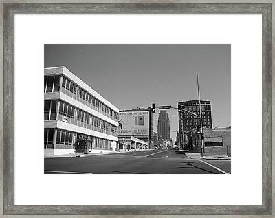 Framed Print featuring the photograph Kansas City - 18th Street Bw by Frank Romeo