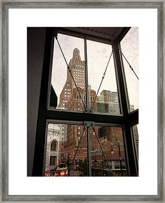 Kansas City - Beyond The Window Framed Print by Glenn McCarthy Art and Photography