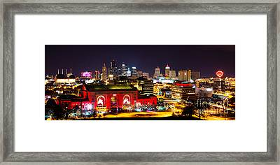 Kansas City Celebrates The Chiefs Framed Print