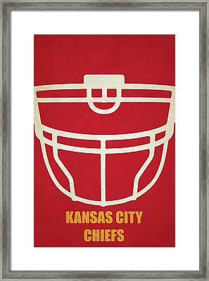 Kansas City Chiefs Helmet Art Framed Print by Joe Hamilton