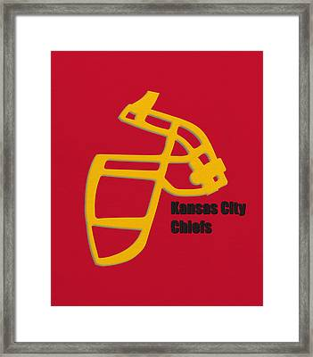 Kansas City Chiefs Retro Framed Print by Joe Hamilton