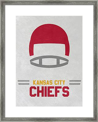 Kansas City Chiefs Vintage Art Framed Print by Joe Hamilton