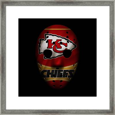 Kansas City Chiefs War Mask 2 Framed Print