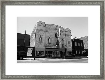Framed Print featuring the photograph Kansas City - Gem Theater Bw by Frank Romeo