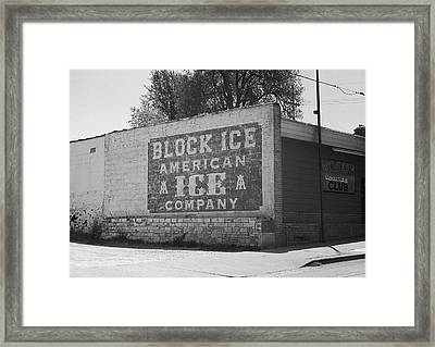 Framed Print featuring the photograph Kansas City Ghost Mural Bw by Frank Romeo