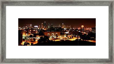Kansas City Lights Framed Print