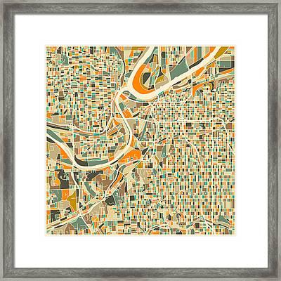 Kansas City Map Framed Print