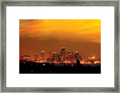 Kansas City Missouri Skyline Framed Print