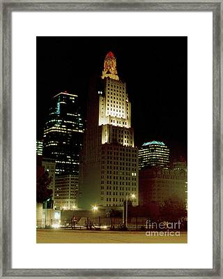 Kansas City Night Framed Print