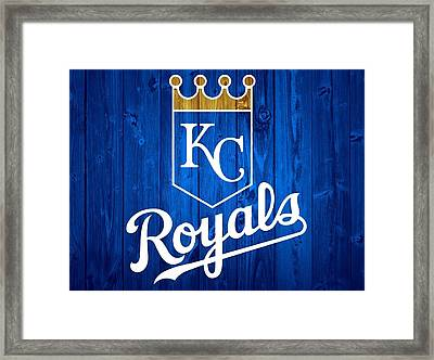 Kansas City Royals Barn Door Framed Print