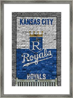 Kansas City Royals Brick Wall Framed Print by Joe Hamilton