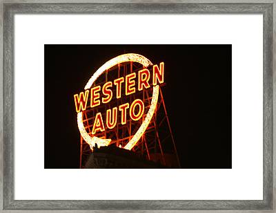 Kansas City Western Auto Framed Print