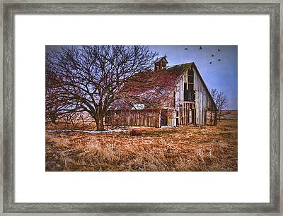 Kansas Countryside Old Barn Framed Print