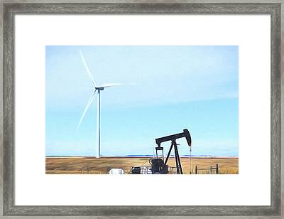 Framed Print featuring the digital art Kansas Energies  by JC Findley
