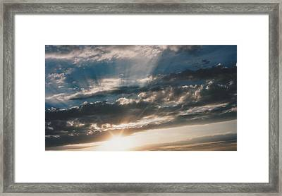 Kansas Evening Framed Print by Gene Linder