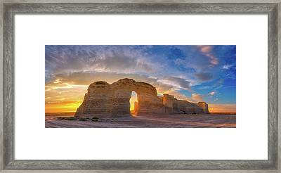 Framed Print featuring the photograph Kansas Gold by Darren White