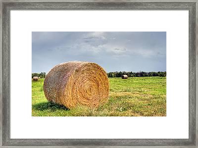 Kansas Hay Bale Framed Print