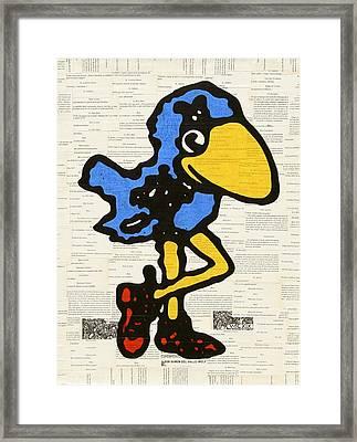 Kansas Jayhawk Framed Print