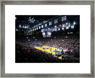 Kansas Jayhawks Allen Fieldhouse Framed Print