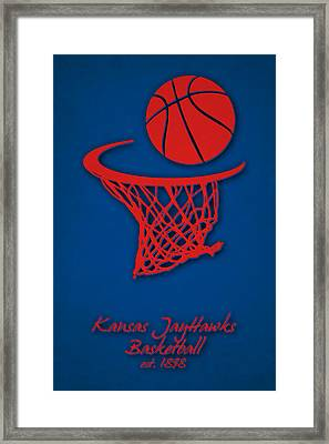Kansas Jayhawks Basketball Framed Print by Joe Hamilton