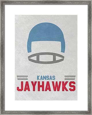 Kansas Jayhawks Vintage Football Art Framed Print