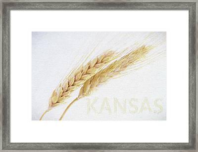 Framed Print featuring the digital art Kansas by JC Findley
