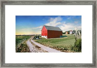 Kansas Landscape II Framed Print by Steve Karol