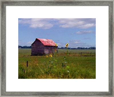 Framed Print featuring the photograph Kansas Landscape by Steve Karol