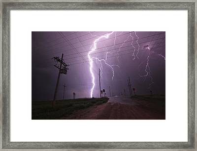 Kansas Lightning Framed Print by Ryan Crouse