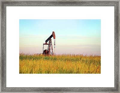 Kansas Oil Production Framed Print by JC Findley