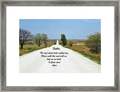 Kansas Road Framed Print