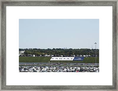Kansas Speedway Framed Print by Yumi Johnson