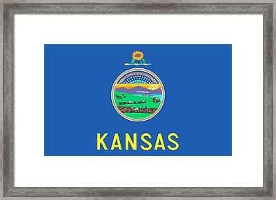 Kansas State Flag Framed Print by American School