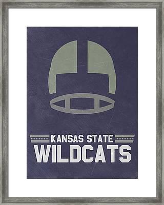 Kansas State Wildcats Vintage Football Art Framed Print by Joe Hamilton