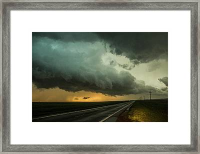 Kansas Storm Chase Bust Day 004 Framed Print