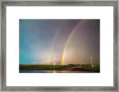 Kansas Storm Chase Bust Day 007 Framed Print