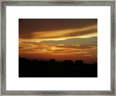 Kansas Summer Sunset Framed Print by Rebecca Overton