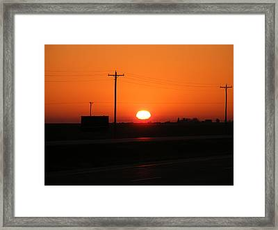Kansas Sunrise Framed Print by Adam Cornelison