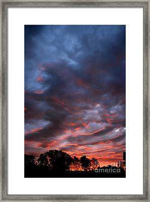Kansas Sunrise Vertical Framed Print
